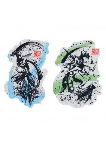Sticker (x2 set) Sumie Retsuden Gekkouga & Mega Jukain |