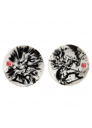 Small Dish (x2 set) Sumie Retsuden Lucario & Zeraora