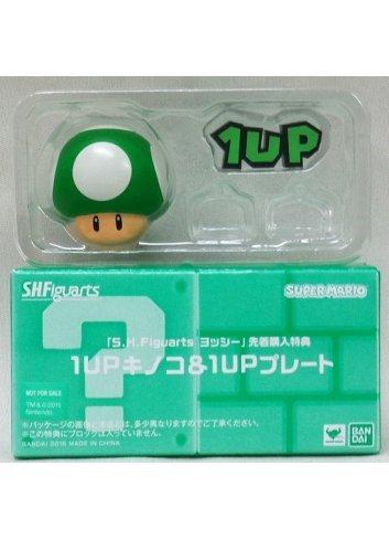 S.H.Figuarts Super Mario - Option Parts 1 - 1 UP Kinoko & 1 UP Plate - Bandai