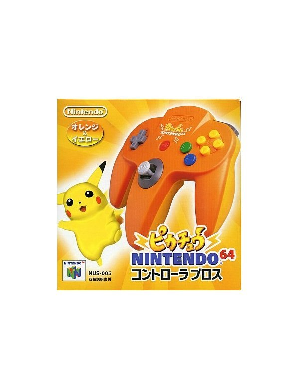 Controller N64 Pikachu - Orange/Yellow -Loose-