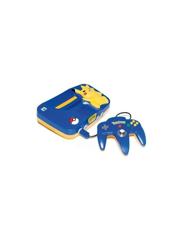 Nintendo 64 Pikachu - Blue/Yellow -Complete-
