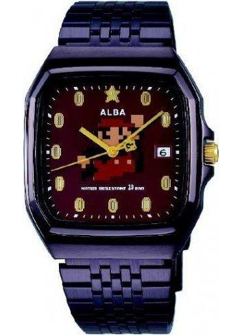 Watch (Qwartz) Super Mario Bros (Metal Black)