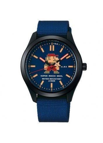 Watch (Qwartz) Super Mario Bros (Black/Blue)