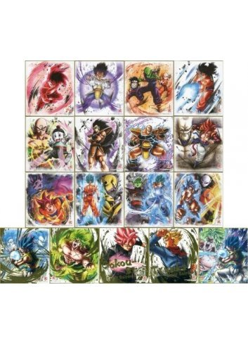 Dragon Ball Shikishi ART 9 - Fullset - Bandai