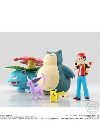 Pokémon Scale World Kanto - Red, Kabigon (Snorlax) and Pokémon