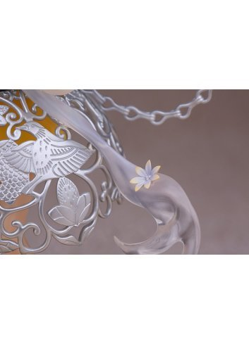 Silver Sachet with Grape Flower and Bird Pattern - Myethos