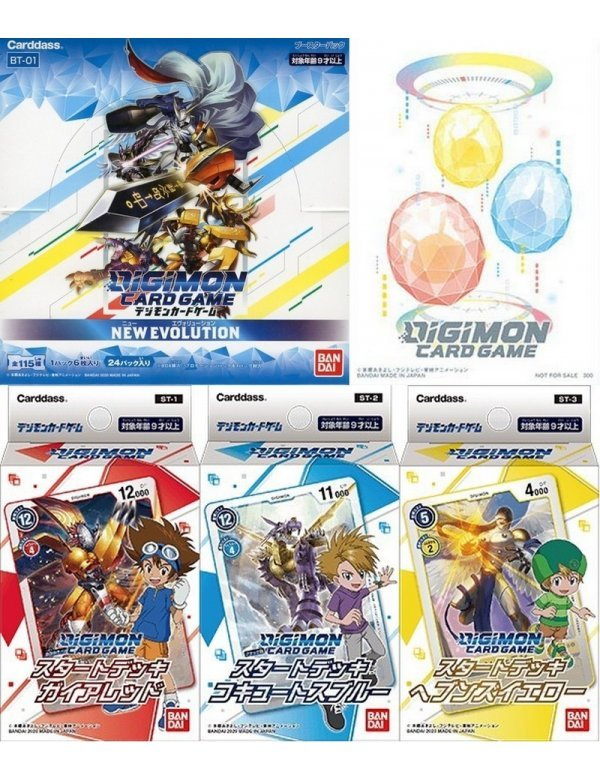 BOX Digimon Card Game Booster NEW EVOLUTION BT-01
