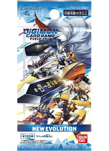 Digimon Card Game Booster ver.1.0 New Evolution (Box 144 cards)