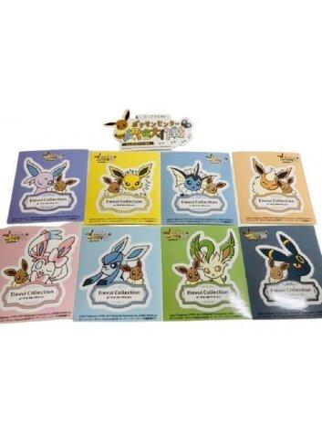 Eevee & Friends Stickers (Set / 9 pieces)